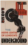 Vintage London underground poster - Power, 1930